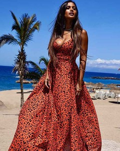 Czerwona sukienka Emo na ramiączkach