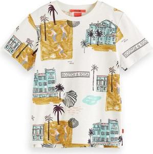 Koszulka dziecięca Scotch & Soda dla chłopców z bawełny