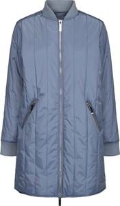 Niebieski płaszcz Ticketwoman w stylu casual