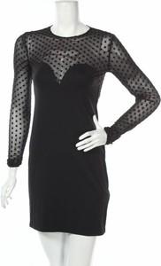 Czarna sukienka Sense z długim rękawem mini
