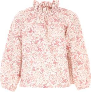 Różowa spódniczka dziewczęca Il Gufo z bawełny w kwiatki