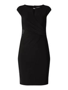 Czarna sukienka Ralph Lauren z krótkim rękawem