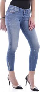 Niebieskie jeansy Diesel w stylu casual z jeansu
