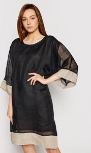 Sukienka Iconique w stylu casual z długim rękawem prosta