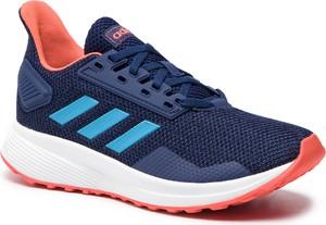 Niebieskie buty sportowe Adidas w sportowym stylu z płaską podeszwą