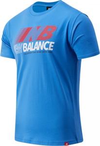 T-shirt New Balance z dżerseju z krótkim rękawem w młodzieżowym stylu