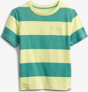 Koszulka dziecięca Gap w paseczki z bawełny