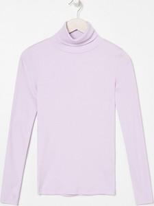 Fioletowa bluzka Sinsay z długim rękawem