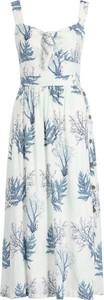 Sukienka Pepe Jeans w stylu casual z dekoltem w kształcie litery v maxi