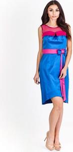 Sukienka Fokus w stylu retro z okrągłym dekoltem rozkloszowana