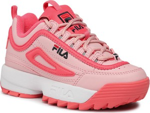 Buty sportowe dziecięce Fila sznurowane dla dziewczynek
