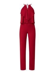 Czerwony kombinezon Swing z długimi nogawkami z szyfonu