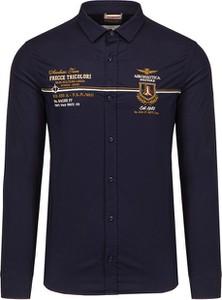 Koszula Aeronautica Militare z długim rękawem z klasycznym kołnierzykiem
