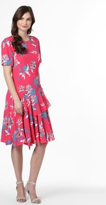Różowa sukienka Calvin Klein midi rozkloszowana