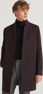 Brązowy płaszcz męski Reserved z wełny