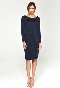 Granatowa sukienka Merg ołówkowa