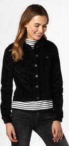 Czarna kurtka Noisy May ze sztruksu krótka w stylu casual