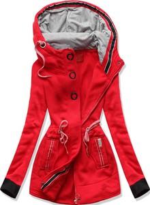Czerwona bluza Netmoda z bawełny