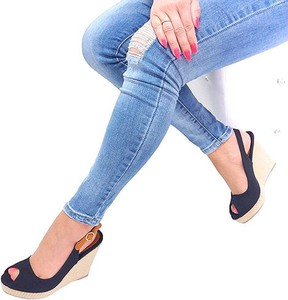 Sandały Good-In z klamrami z tkaniny