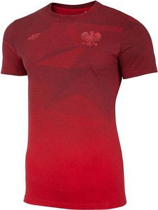T-shirt 4F z krótkim rękawem z bawełny z nadrukiem