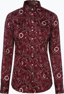 Czerwona bluzka Franco Callegari w stylu casual z kołnierzykiem