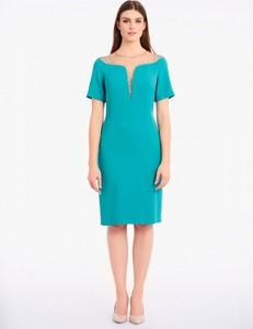 Sukienka POTIS & VERSO z krótkim rękawem ołówkowa mini