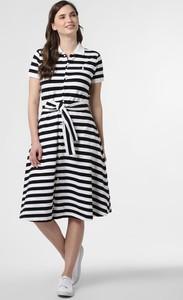 Sukienka POLO RALPH LAUREN z krótkim rękawem midi rozkloszowana