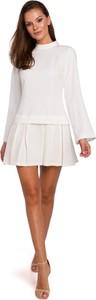 Sukienka Makover mini z tkaniny z długim rękawem
