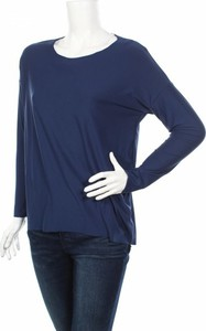 Niebieska bluzka Liberte Essentiel w stylu casual z okrągłym dekoltem
