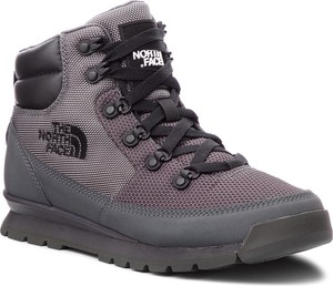 Buty trekkingowe The North Face z płaską podeszwą ze skóry ekologicznej w sportowym stylu