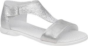 Srebrne buty dziecięce letnie Kornecki na rzepy