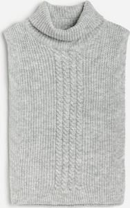 Reserved - Dzianinowe ponczo - Jasny szary