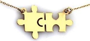 Lovrin Złoty naszyjnik 333 celebrytka puzzle układanka