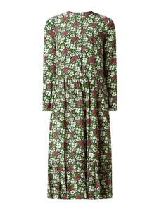 Sukienka Montego koszulowa maxi z długim rękawem