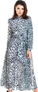 Sukienka Awama koszulowa maxi w stylu casual