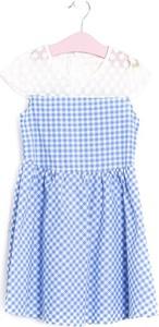 Niebieska sukienka dziewczęca born2be