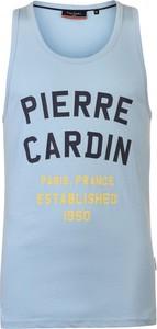 Niebieski t-shirt Pierre Cardin