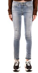 Niebieskie jeansy Dondup z bawełny