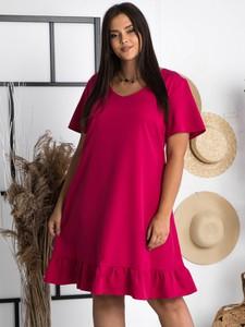 Sukienka KARKO trapezowa z krótkim rękawem