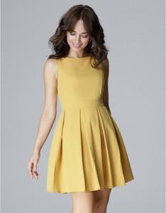 Sukienka LENITIF z okrągłym dekoltem bez rękawów mini
