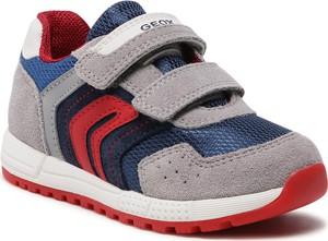 Buty sportowe dziecięce Geox na rzepy z zamszu