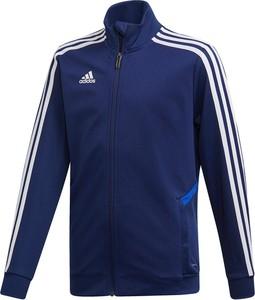 Niebieska kurtka dziecięca Adidas Performance z dżerseju