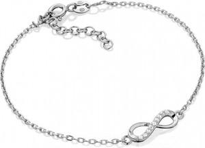 Caviallo Srebrna bransoletka z nieskończonością z cyrkoniami