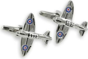 Spinki do Mankietów, SAMOLOT RAF, Myśliwiec, Dla Lotników, Tematyczne, Męskie -ALTIES SPMALT0352
