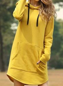 Żółta sukienka Cikelly w stylu casual mini