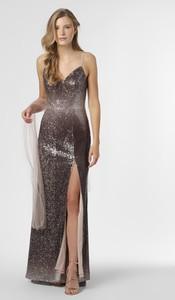 Sukienka Unique z dekoltem w kształcie litery v maxi