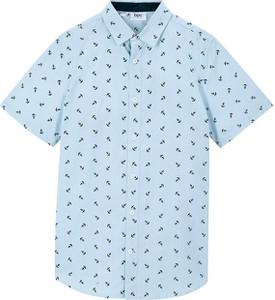 Niebieska koszula dziecięca bonprix z bawełny dla chłopców
