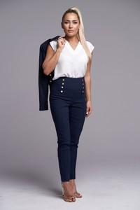 Granatowe spodnie Ella Boutique