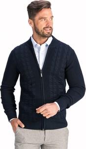 Granatowy sweter Lanieri z wełny