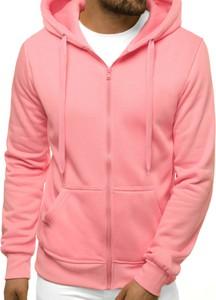 Różowa bluza ozonee.pl w młodzieżowym stylu z bawełny